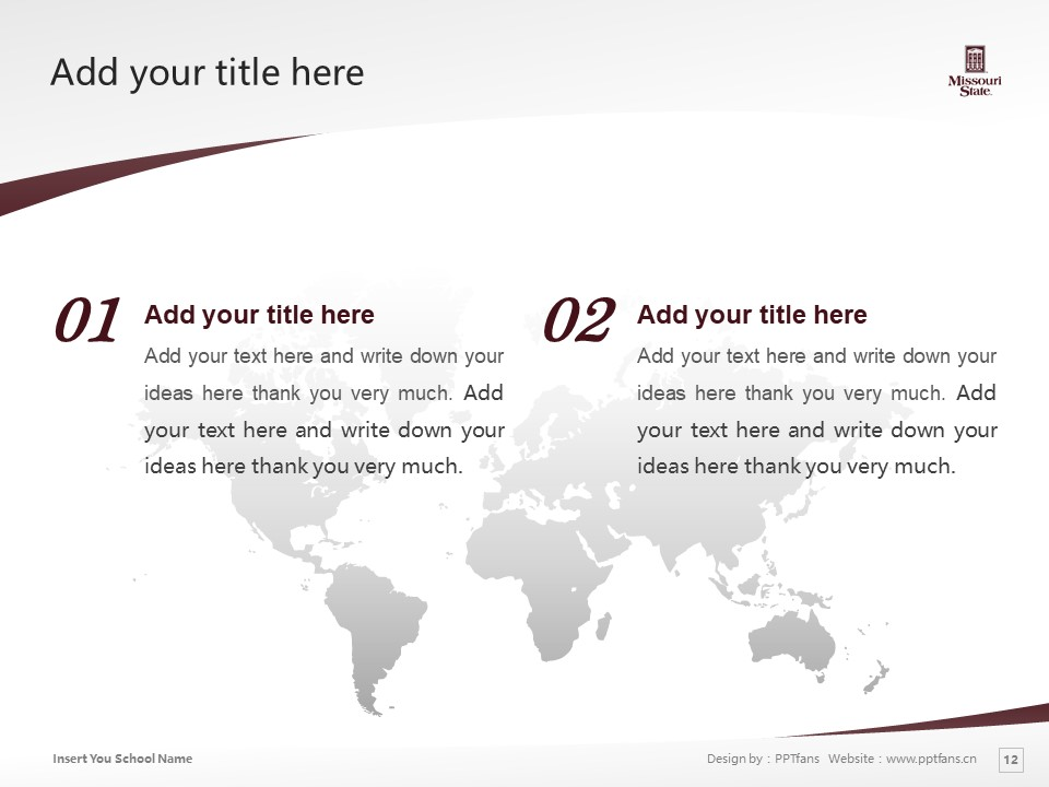 Missouri State University Powerpoint Template Download | 密苏里州立大学PPT模板下载_slide12