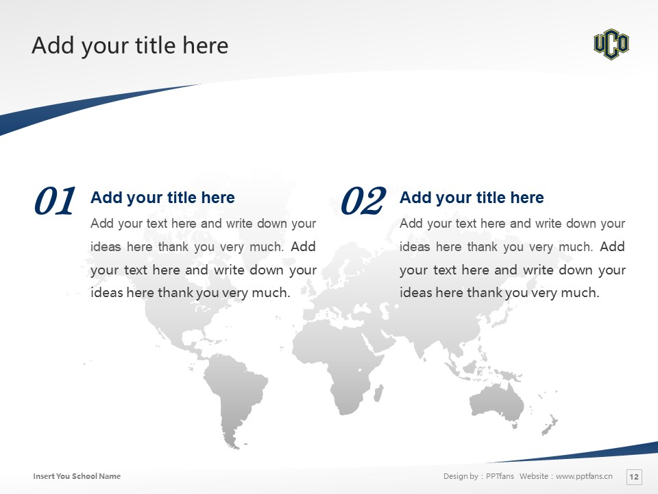University of Central Oklahoma Powerpoint Template Download | 中俄克拉荷马大学PPT模板下载_幻灯片12