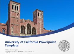 University of California Powerpoint Template Download | 加州河畔大学PPT模板下载