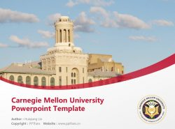 Carnegie Mellon University Powerpoint Template Download | 卡内基梅隆大学PPT模板下载