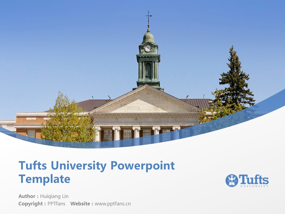Tufts University Powerpoint Template Download | 塔夫茨大学PPT模板下载_slide1