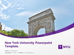 New York University Powerpoint Template Download | 纽约大学PPT模板下载