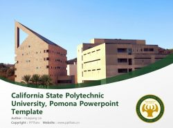 California State Polytechnic University, Pomona Powerpoint Template Download | 加州州立理工大学PPT模板下载