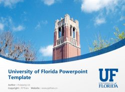 University of Florida Powerpoint Template Download | 佛罗里达大学PPT模板下载