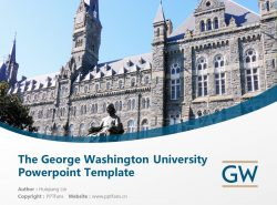The George Washington University Powerpoint Template Download   乔治华盛顿大学PPT模板下载