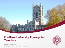 Fordham University Powerpoint Template Download | 福德汉姆大学PPT模板下载