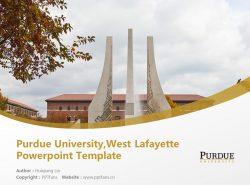 Purdue University,West Lafayette Powerpoint Template Download | 美国普渡大学PPT模板下载