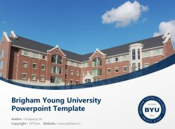 Brigham Young University Powerpoint Template Download | 杨百翰大学PPT模板下载