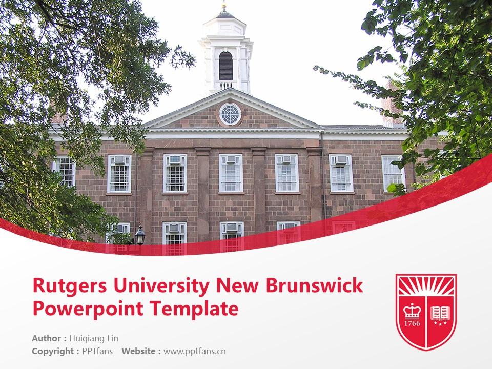 rutgers university new brunswick powerpoint template