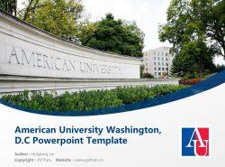 American University Washington, D.C. Powerpoint Template Download | 美国大学PPT模板下载