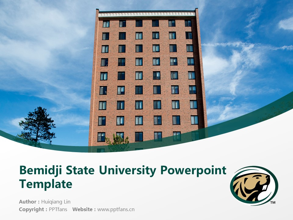 Bemidji State University Powerpoint Template Download | 明尼苏达州伯米吉州立大学PPT模板下载_幻灯片1