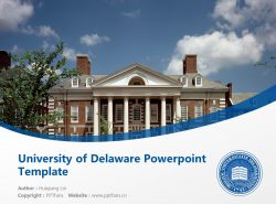 University of Delaware Powerpoint Template Download | 特拉华大学PPT模板下载
