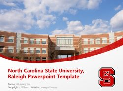 North Carolina State University, Raleigh Powerpoint Template Download | 美国北卡罗来纳州立大学PPT模板下载