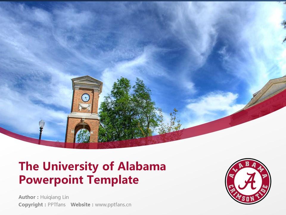The University of Alabama Powerpoint Template Download | 美国阿拉巴马大学PPT模板下载_slide1