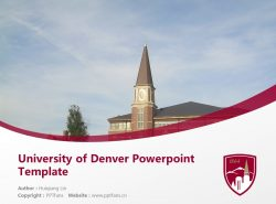 University of Denver Powerpoint Template Download | 丹佛大学PPT模板下载
