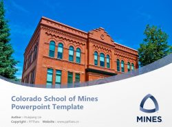 Colorado School of Mines Powerpoint Template Download | 科罗拉多矿业学院PPT模板下载