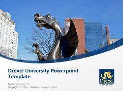 Drexel University Powerpoint Template Download | 德雷塞尔大学PPT模板下载