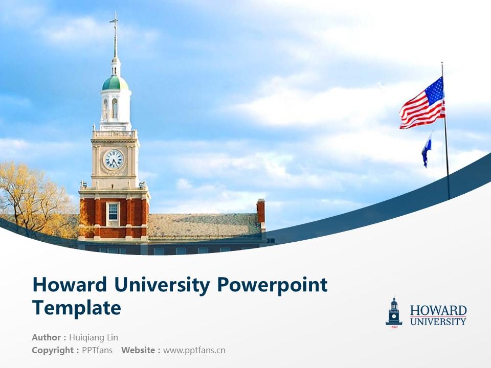 Howard University Powerpoint Template Download | 美国霍华德大学PPT模板下载_slide1