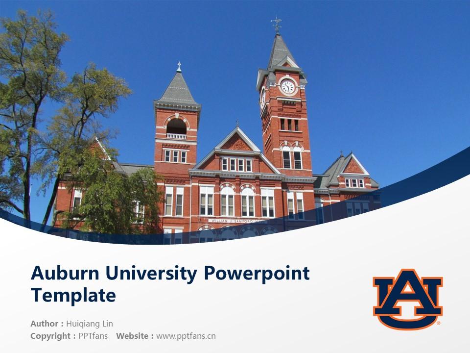 Auburn University Powerpoint Template Download | 美国奥本大学PPT模板下载_slide1