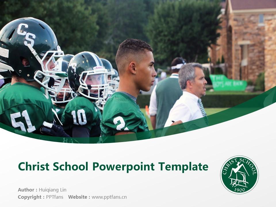 Christ School Powerpoint Template Download | 基督中学PPT模板下载_幻灯片1