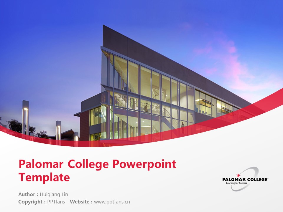 Palomar College Powerpoint Template Download | 巴洛玛学院PPT模板下载_slide1