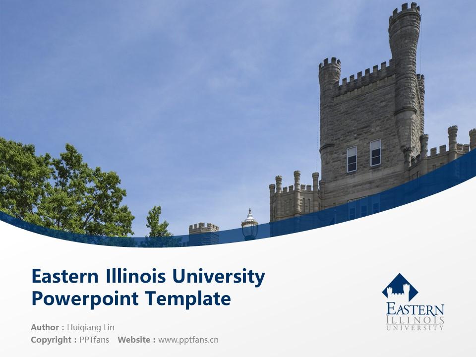 Eastern Illinois University Powerpoint Template Download | 东伊利诺斯大学PPT模板下载_slide1