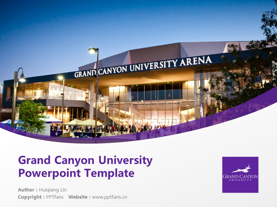 Grand Canyon University Powerpoint Template Download | 大峡谷大学PPT模板下载_slide1