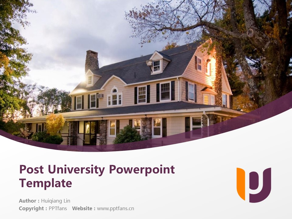 Post University Powerpoint Template Download | 邮政大学PPT模板下载_幻灯片1
