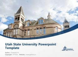 Utah State University Powerpoint Template Download | 犹他州立大学PPT模板下载