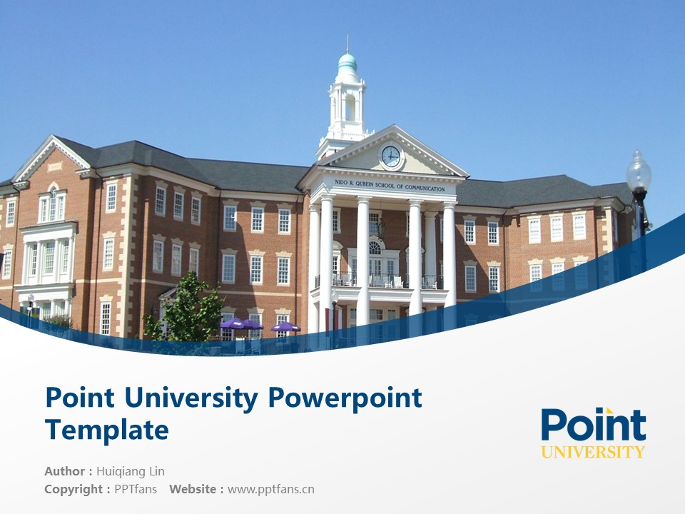 Point University Powerpoint Template Download | 亚特兰大基督教学院PPT模板下载_slide1