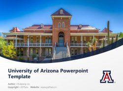 University of Arizona Powerpoint Template Download | 亚利桑那大学PPT模板下载