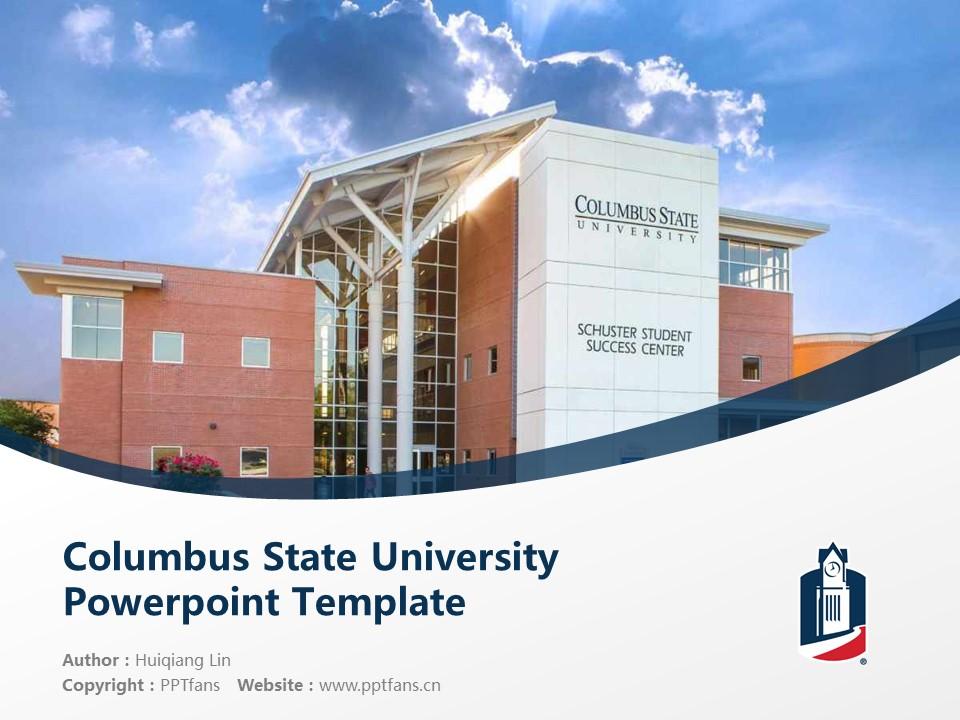 Columbus State University Powerpoint Template Download | 哥伦布州立大学PPT模板下载_幻灯片1