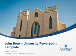 John Brown University Powerpoint Template Download | 约翰布朗大学PPT模板下载