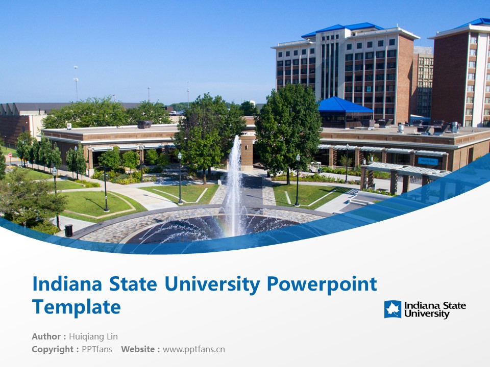 Indiana State University Powerpoint Template Download | 印第安纳州立大学PPT模板下载_slide1