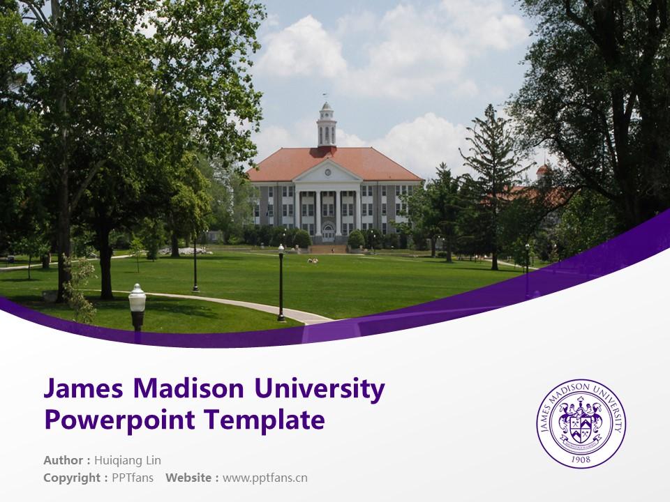 James Madison University Powerpoint Template Download | 詹姆士麦迪逊大学PPT模板下载_slide1