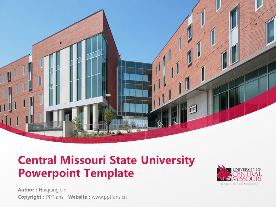 Central Missouri State University Powerpoint Template Download | 中密苏里州立大学PPT模板下载_幻灯片1