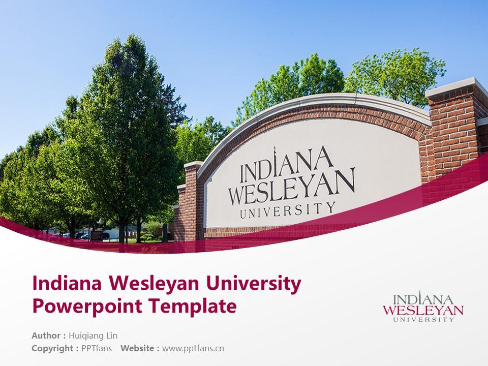 Indiana Wesleyan University Powerpoint Template Download | 印第安纳卫斯理大学PPT模板下载_slide1