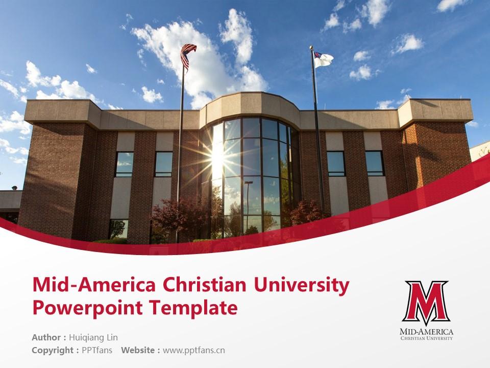 Mid-America Christian University Powerpoint Template Download | 中美基督教大学PPT模板下载_slide1