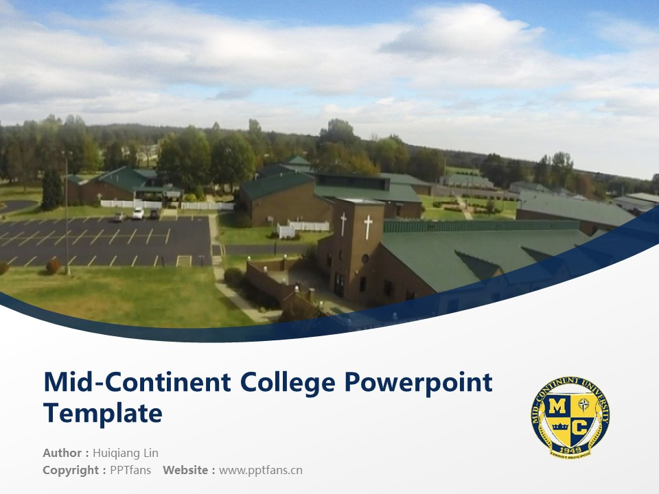 Mid-Continent College Powerpoint Template Download | 中陆学院PPT模板下载_slide1