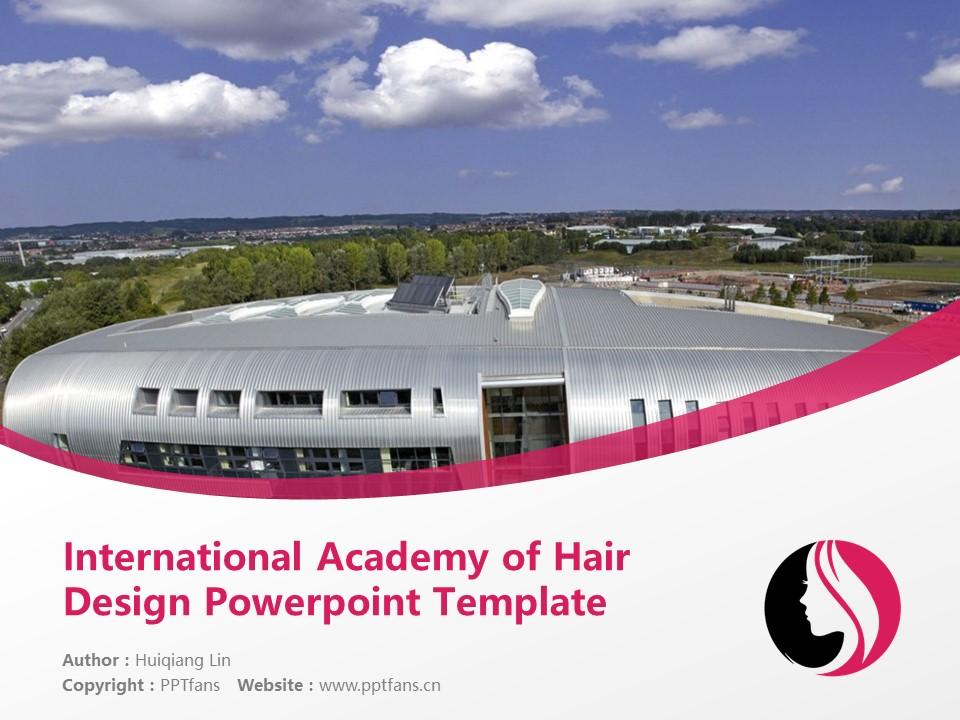 International Academy of Hair Design Powerpoint Template Download | 国际发型设计学院PPT模板下载_幻灯片1