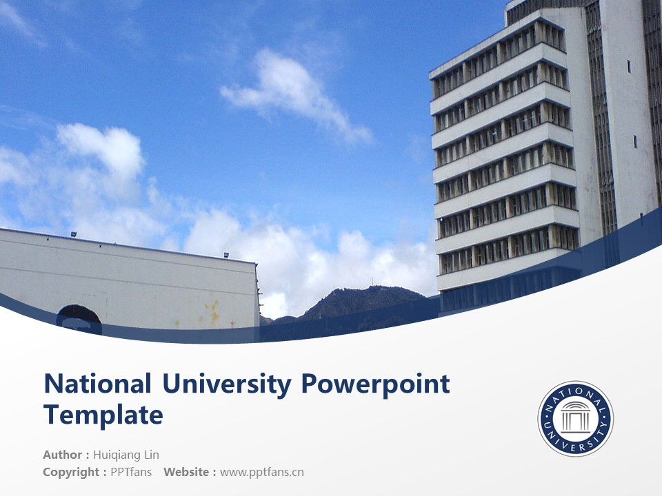 National University Powerpoint Template Download | 国家大学PPT模板下载_slide1