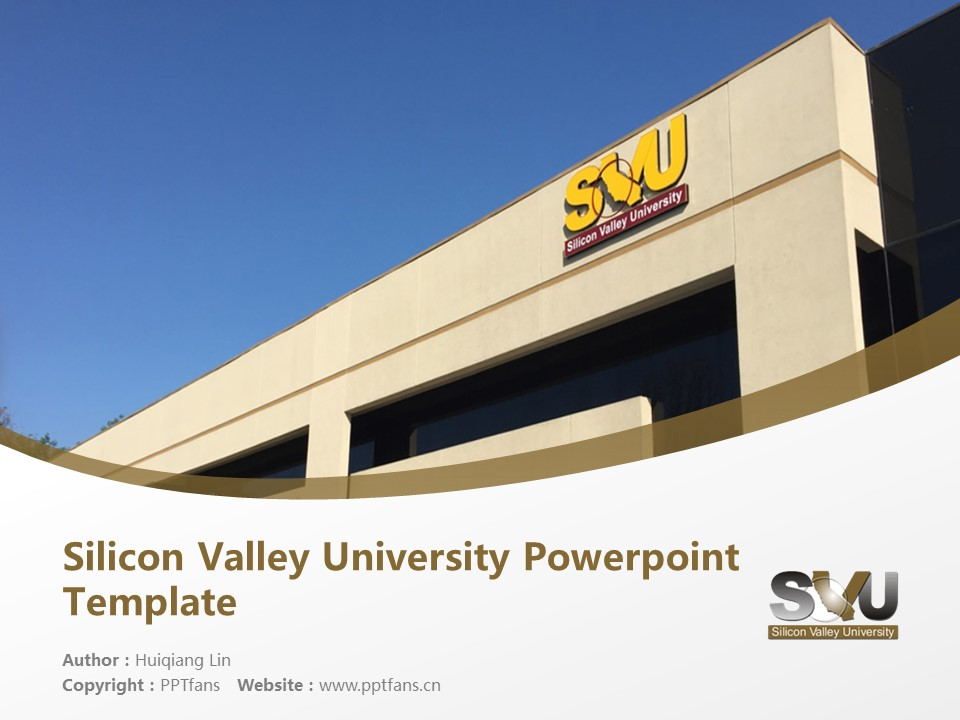 Silicon Valley University Powerpoint Template Download | 硅谷大学PPT模板下载_幻灯片1