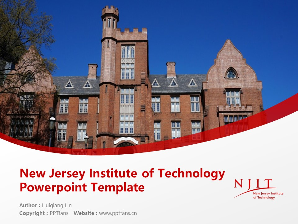 New Jersey Institute of Technology Powerpoint Template Download | 新泽西理工学院PPT模板下载_幻灯片1
