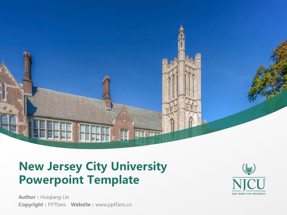 New Jersey City University Powerpoint Template Download | 新泽西城市大学PPT模板下载_slide1
