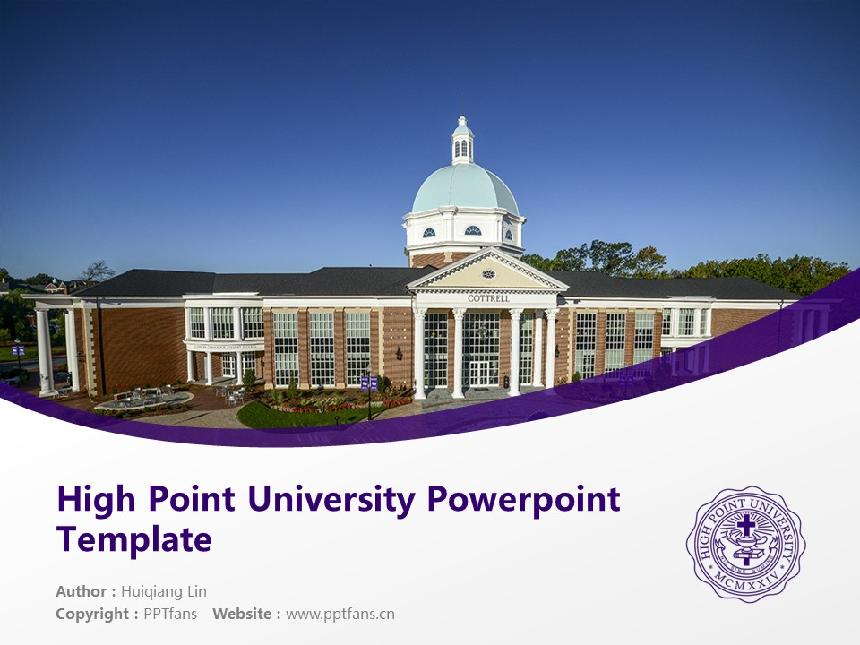 High Point University Powerpoint Template Download | 高点大学PPT模板下载_slide1