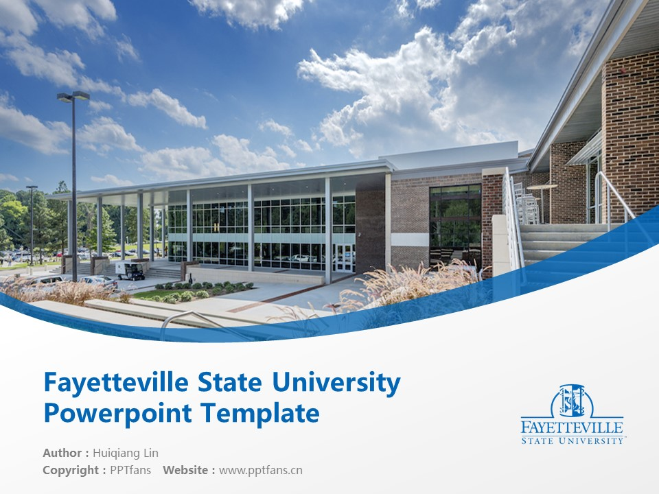 Fayetteville State University Powerpoint Template Download | 费耶特维尔州立大学PPT模板下载_幻灯片1