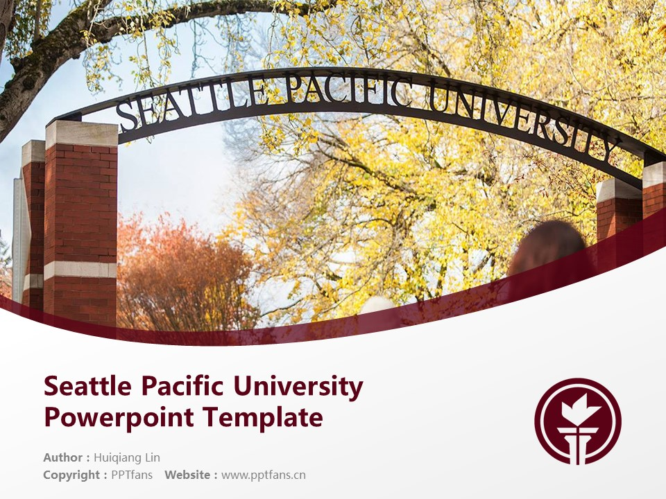 Seattle Pacific University Powerpoint Template Download | 西雅图太平洋大学PPT模板下载_幻灯片1