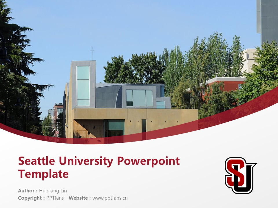 Seattle University Powerpoint Template Download | 西雅图大学PPT模板下载_slide1
