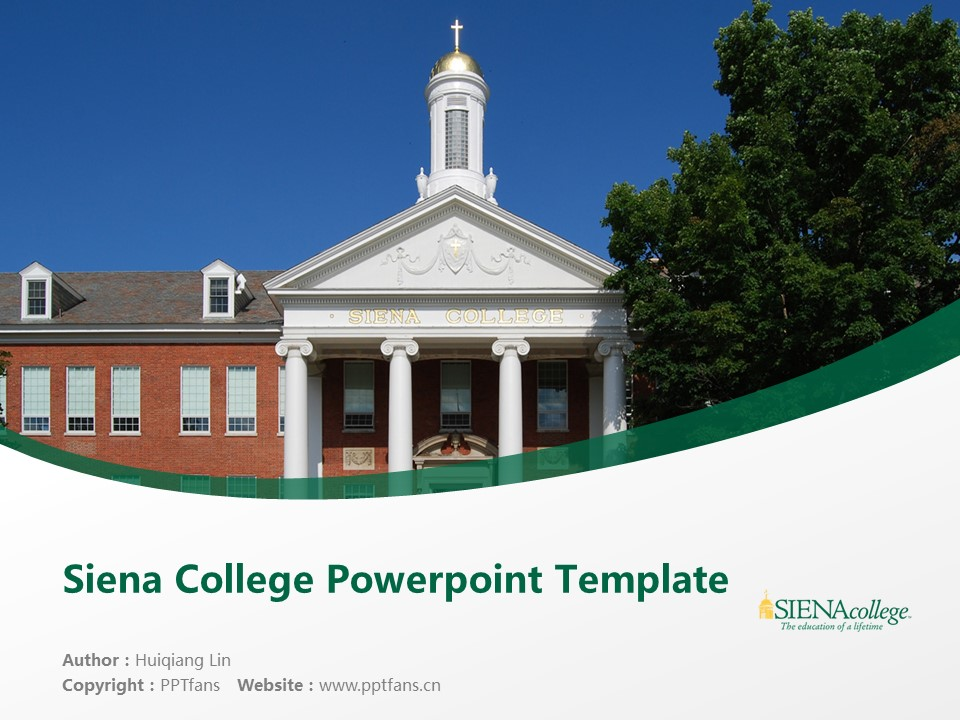 Siena College Powerpoint Template Download | 锡耶纳学院PPT模板下载_幻灯片1