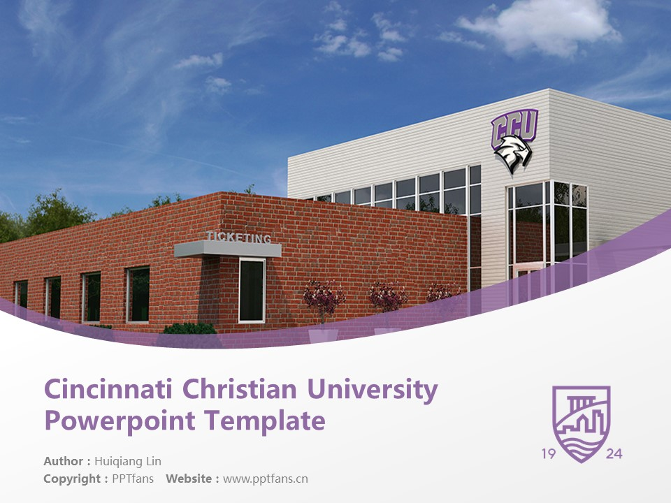 Cincinnati Christian University Powerpoint Template Download | 辛辛那提圣经学院与神学院PPT模板下载_幻灯片1
